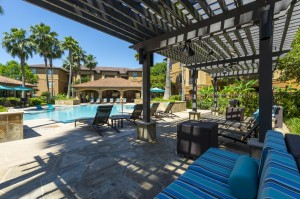 Three Bedroom Apartments for Rent in Northwest Houston, TX -Pergola with Seating Area